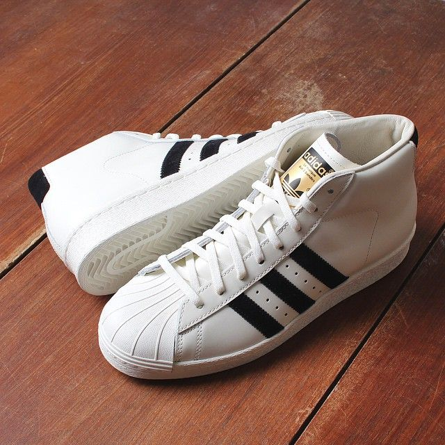 Adidas Originals Pro Model DLX: Core White/Off Black