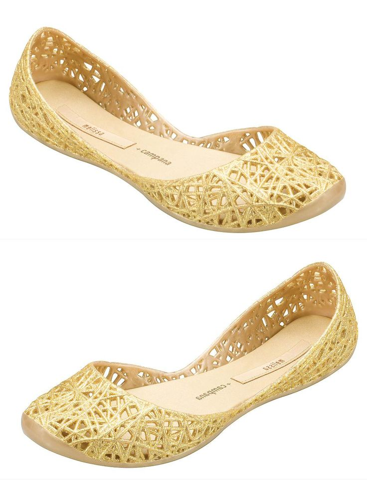 Campana Gold Melissa Plastic Shoes and Sandals - Ballet Flat