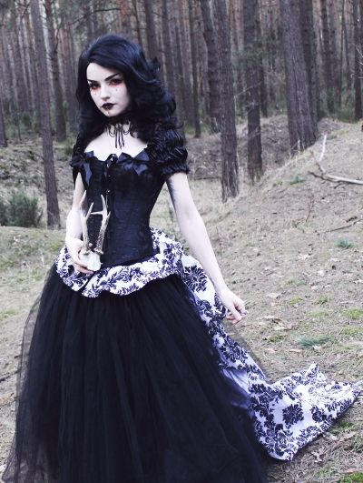 c827bc0f0b7 Romantic Gothic Corset Victorian Style Long Prom Gown