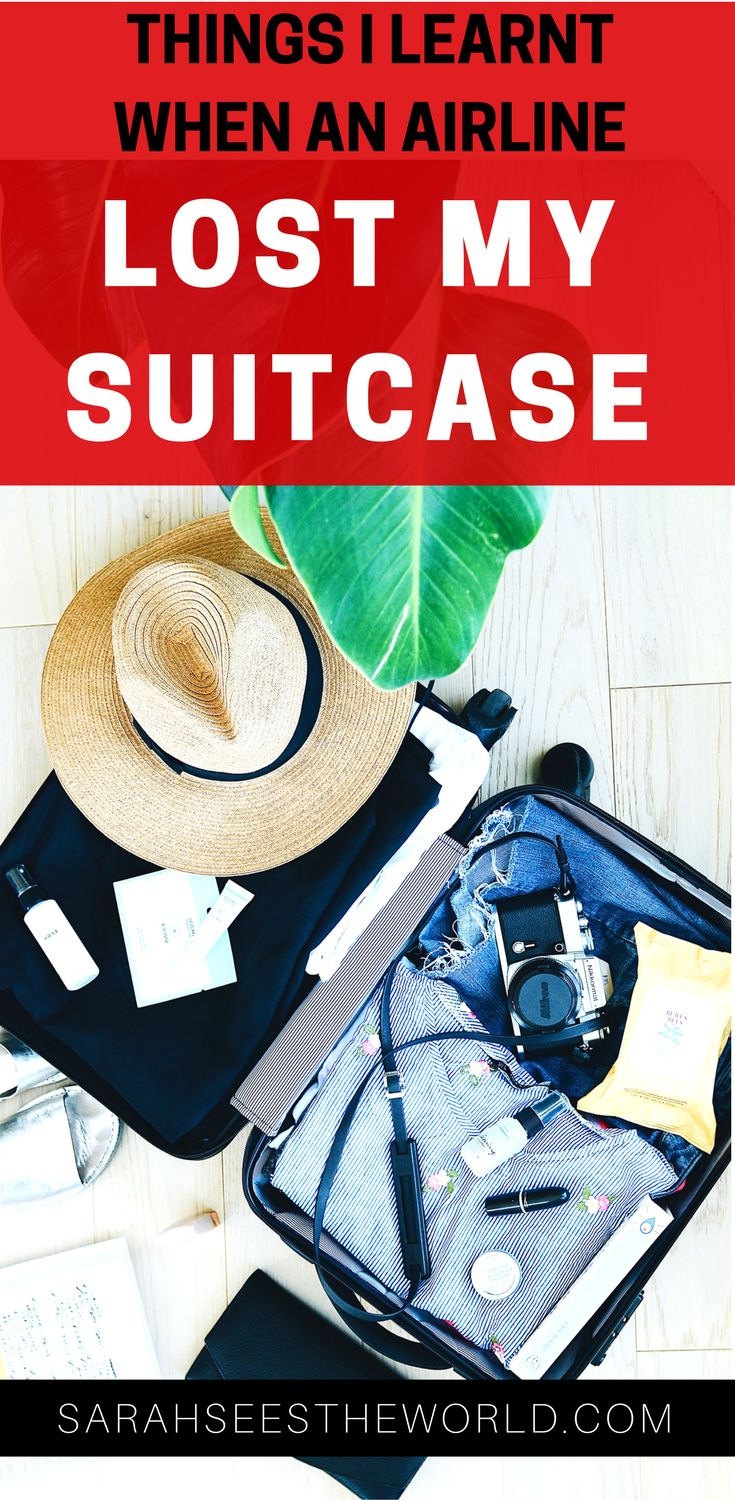 """When travelling it's not a matter of """"if your bags go missing"""" but a reality """"when your bags go missing"""". Here are some things I learnt when an airline lost my suitcase including provention, packing tips and what to do. Save this to your travel board!"""