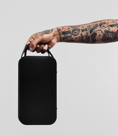 Portable Bluetooth speaker featuring True360 sound and up to 24 hours battery.
