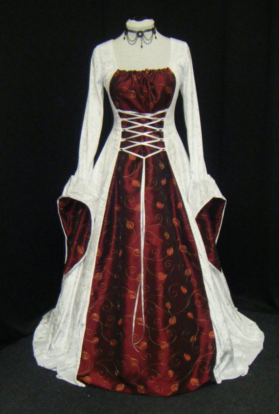 renaissance dress, handfasting dress, medieval gown, custom made, plus sizes available