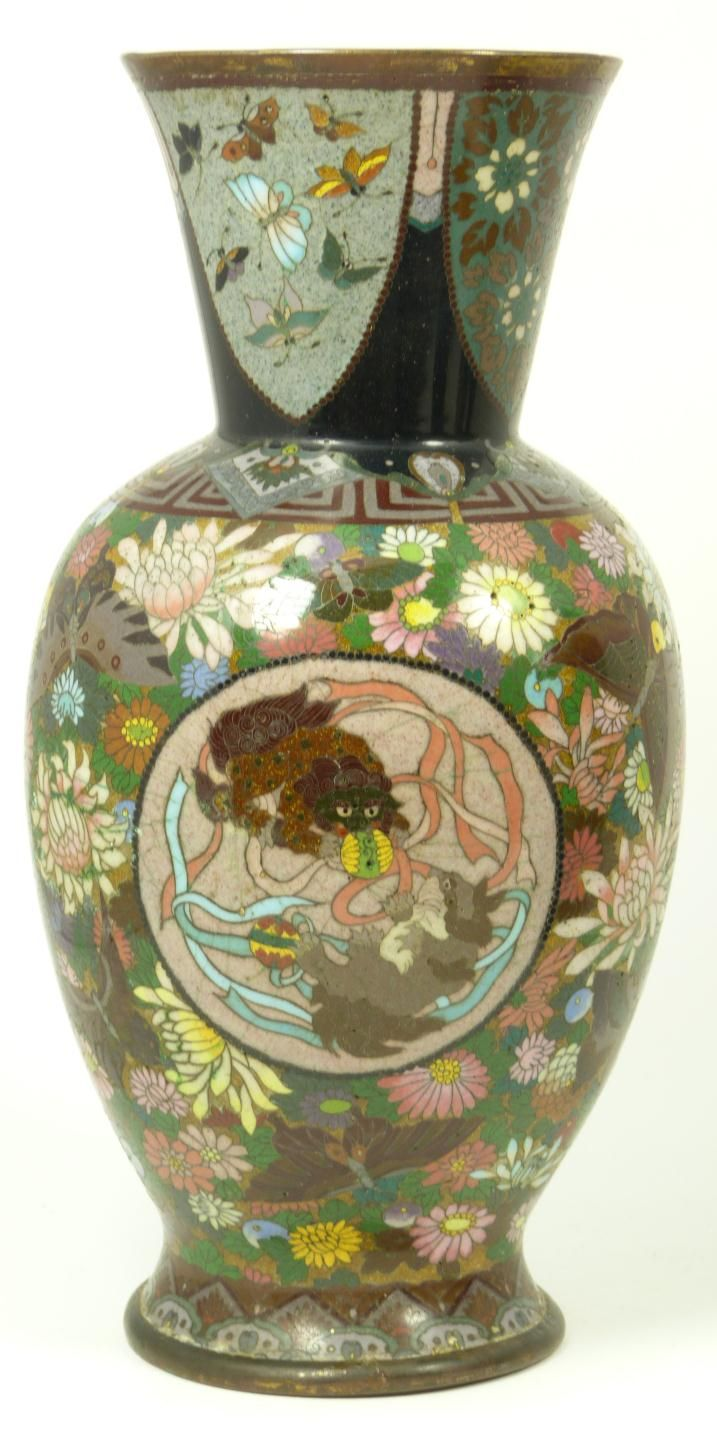 152 best chinese cloisonne and enamel images on pinterest antique chinese cloisonne dragon phoenix vase reviewsmspy