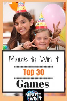 30 Fun Minute to Win It Games! Quick set up, but still challenging and fun for teens, kids, girls, boys, and adults alike.