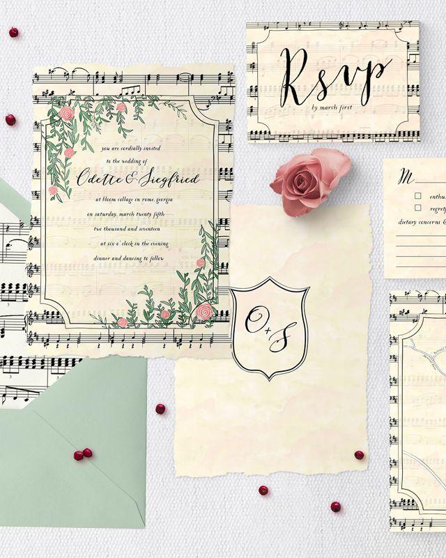 Swan lake wedding stationery suite