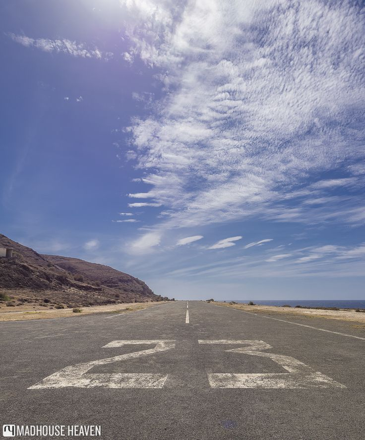 The runway that used to service the now derelict airport at Fajã de Água on Brava Island, Cape Verde.