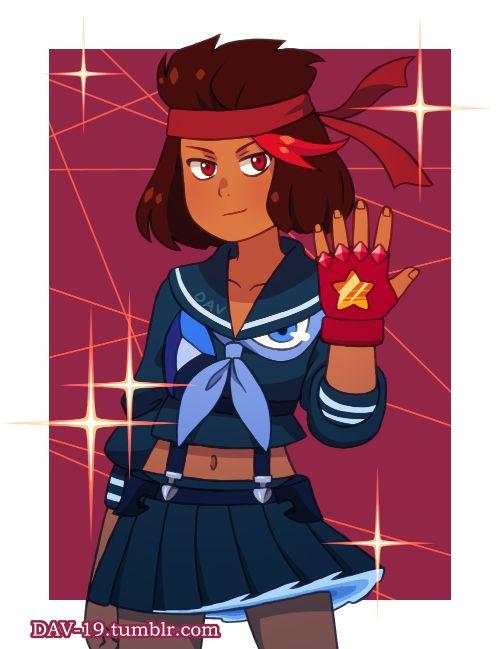 Ruby as ryuko and sapphire  senketsu