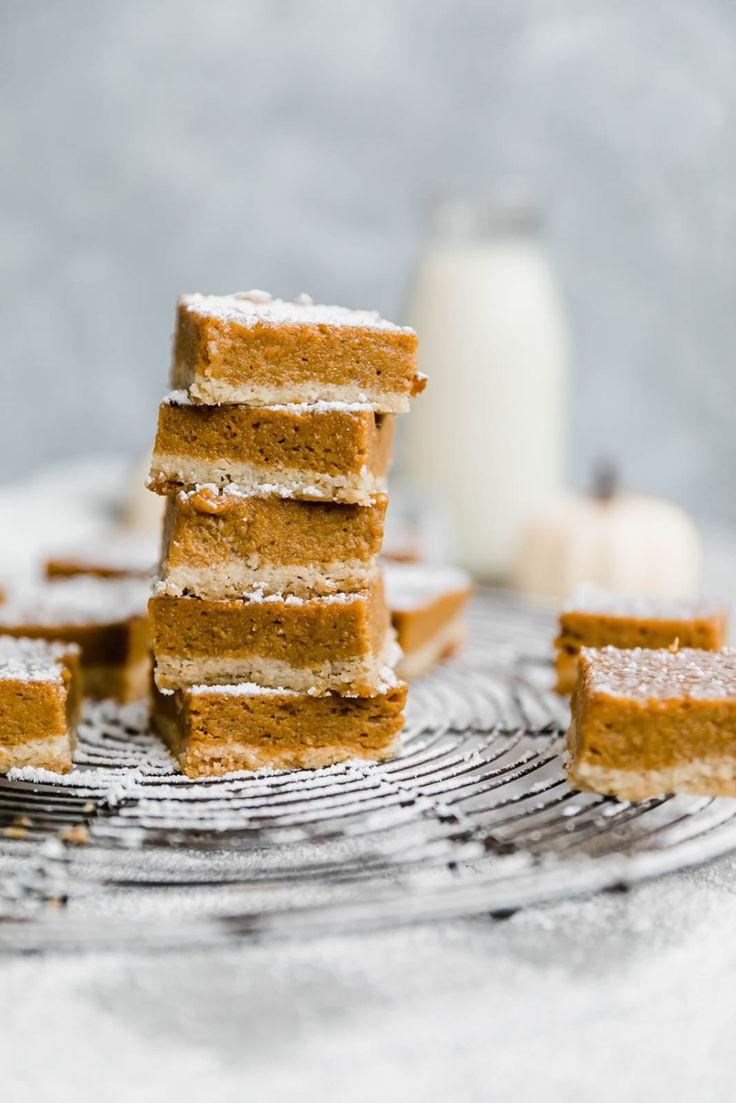 Paleo-Kürbiskuchenriegel mit Mandelmehl Sugar Cookie Crust