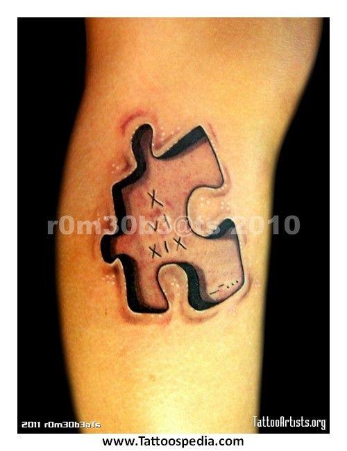 Homemade Tattoos Puzzle Piece Tattoo