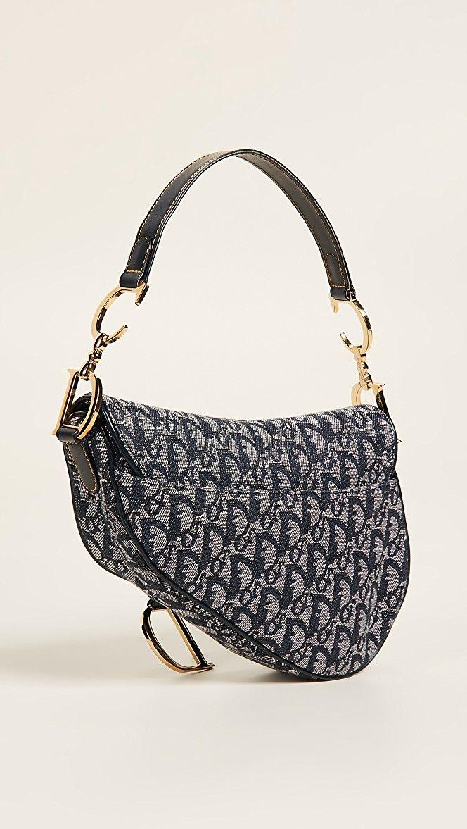 What Goes Around Comes Around Dior Canvas Saddle Bag Dior Saddle Bag Bags Saddle Bags