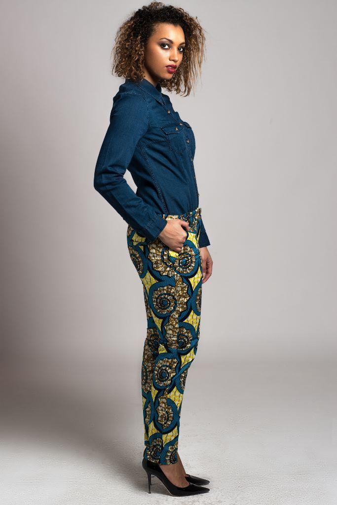 salopette coupe cigarette en wax africain shorts chic et shorts en jean. Black Bedroom Furniture Sets. Home Design Ideas