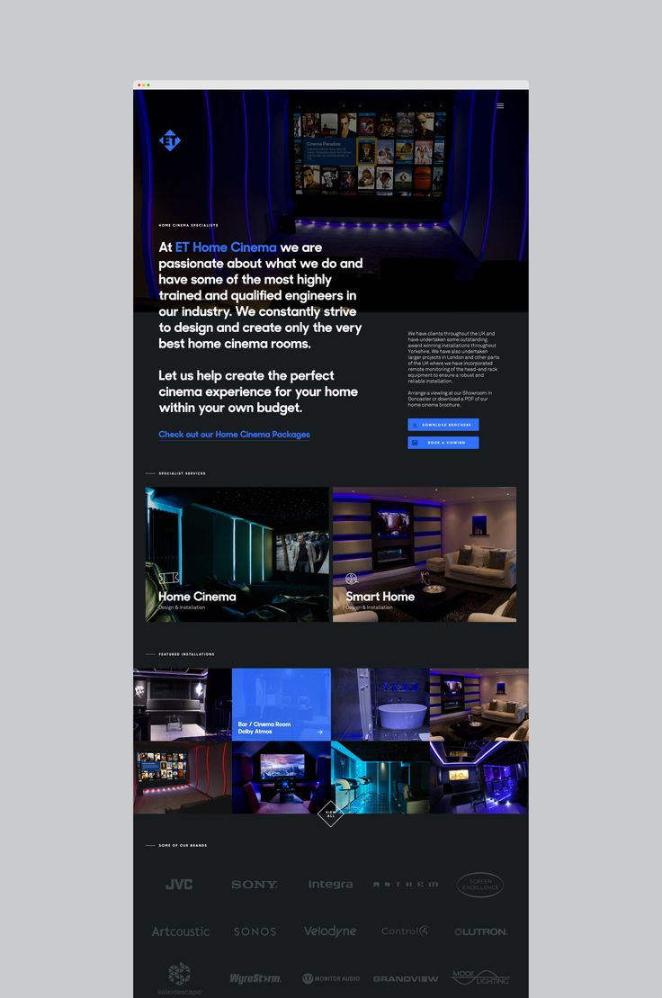 ET Home Cinema — Jordan Gilroy — Freelance Digital Designer
