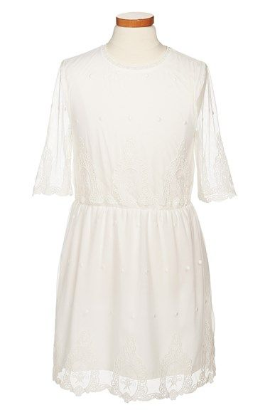 Free shipping and returns on Ruby & Bloom 'Chantelle' Dress (Big Girls) at Nordstrom.com. A gauzy lace overlay lends ethereal grace to a breezy, elegant dress fit for a princess.