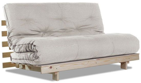 Futonsofa Zapp grau oder unbehandelt 140 x 200 cm im Angebot