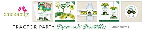 Free printable John Deere cookie mix circles