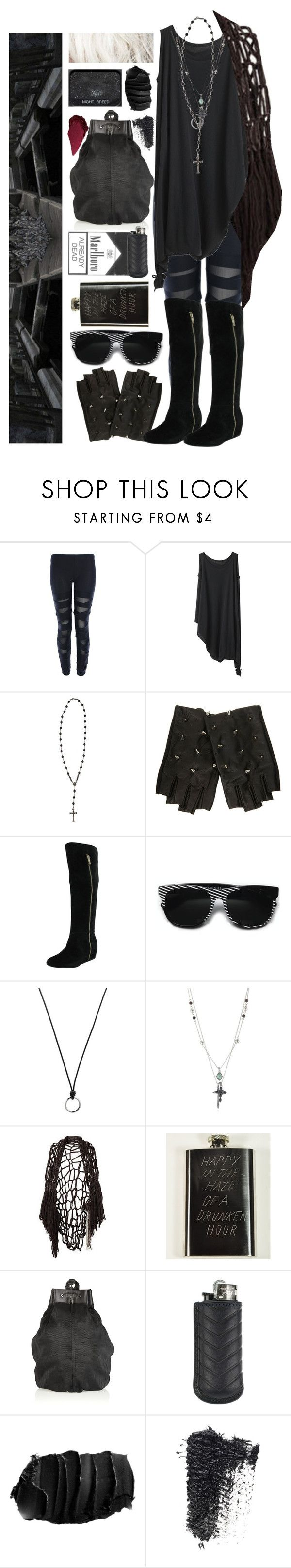 """""""spooky action at a distance"""" by no0ne ❤ liked on Polyvore featuring Y's by Yohji Yamamoto, Roman Paul, Retrò, FOSSIL, Lucky Brand, Wendy Nichol, In God We Trust, Alexander Wang, Ateliers Ruby and Stila"""