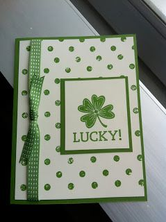 Stampin' Up! ... handmade card for St. Patrick's Day by Jennifer Olea ... clean and simple ... green and white ...