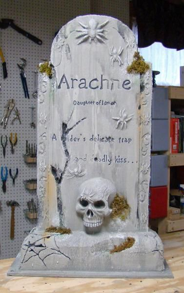 Building Halloween Tombstones - This is a great video tutorial for a very elaborate tombstone.  I think this one will produce a more realistic tombstone than most tutorials out there.
