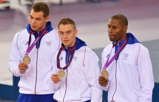 Grégory Baugé, Kévin Sireau et Michael d'Almeida/Médaille d'Argent cyclisme sur piste