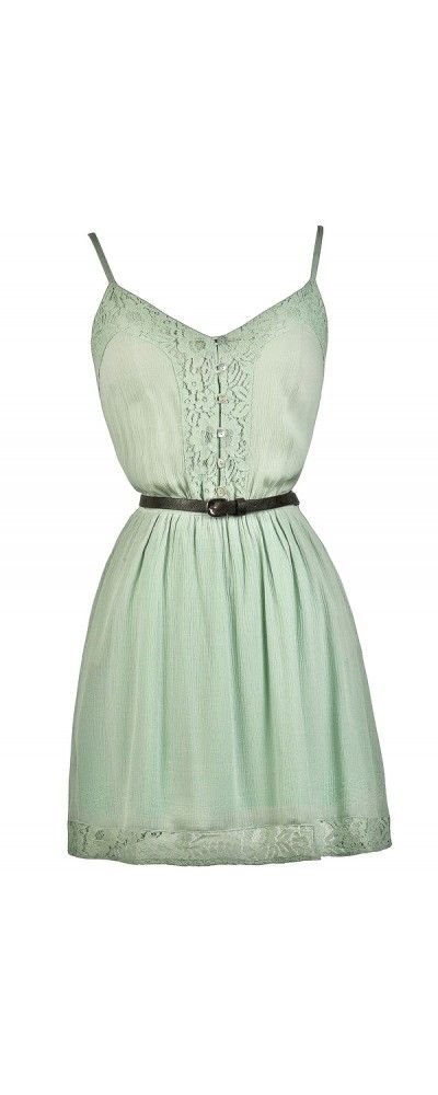 Lily Boutique Country Cutie Belted Button Front Dress in Mint, $30 Belted Mint Dress, Cute Mint Sundress, Cute Summer Dress, Cute Country Dress www.lilyboutique.com