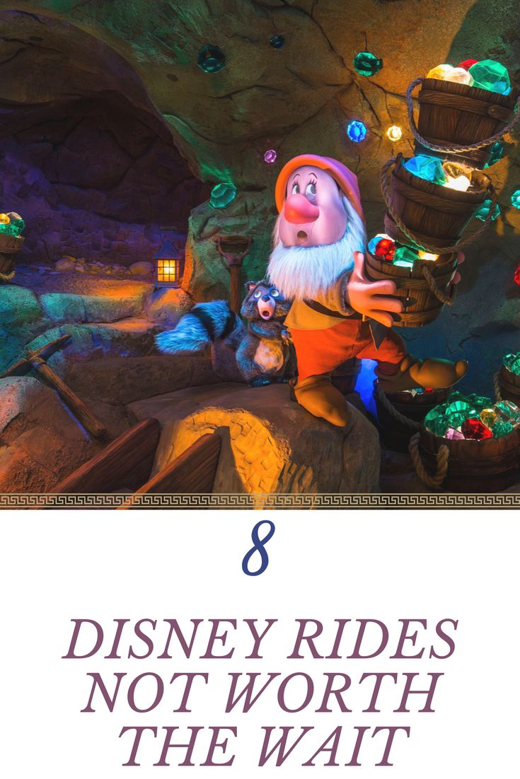 8 Disney Rides that are not worth the wait. Walt Disney World is a crowded and busy place, and you can end up witing in ride lines for way to long. Sometimes tough these lines are too long, and the payoff is not enough to make standing in them worth it. Click through to find out the Top 8 Disney rides not worth the wait, and save yourself hours f stnading around.