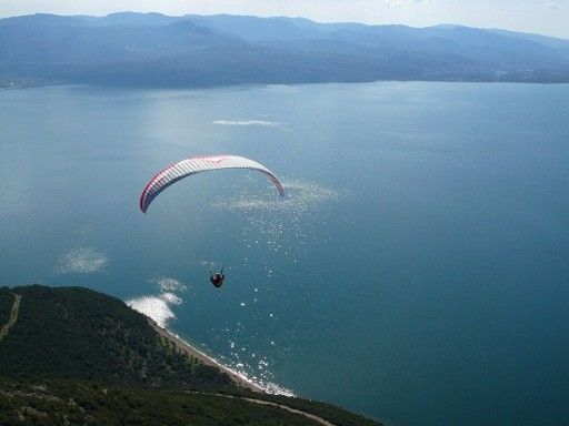 #Trichonida lake #Greece #paragliding