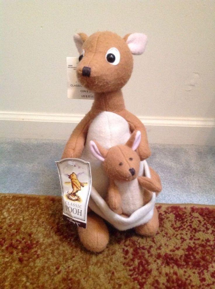 New Disney Kanga Roo Winnie The Pooh Classic Pastel Plush