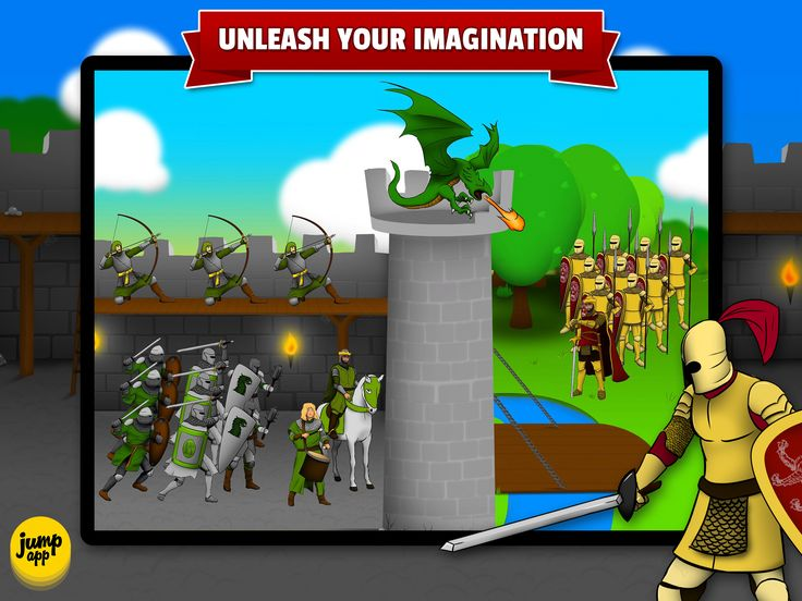 No rules - only free play and great fun! https://itunes.apple.com/us/app/sticker-play-knights-dragons/id836195612