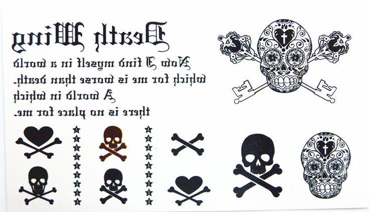Водонепроницаемый Временные Татуировки Наклейки Милый Страшные Пираты Череп Кости Дизайн Боди-Арт Мужчина Женщина Макияж Инструмент