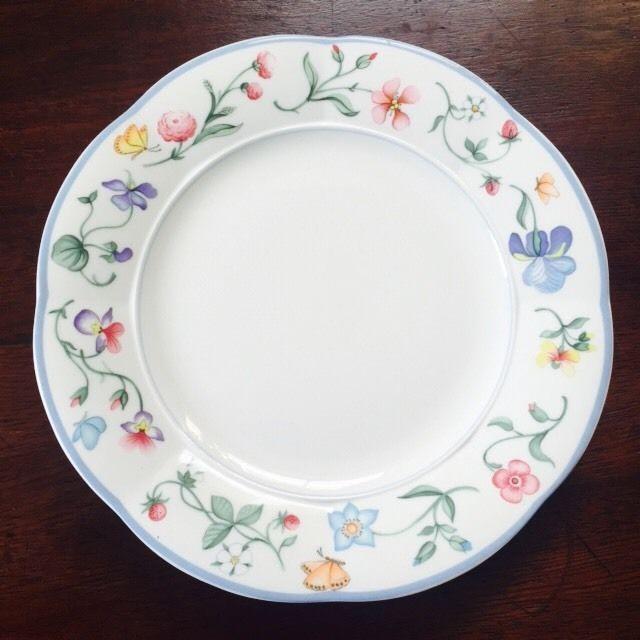 Villeroy u0026 Boch MARIPOSA 8 3/8  Bone China Salad/Side Plate · Vintage TablewareChina PlatesDinner ... & 166 best Collectable Plates  Dishes Tea Sets Vintage Tableware ...