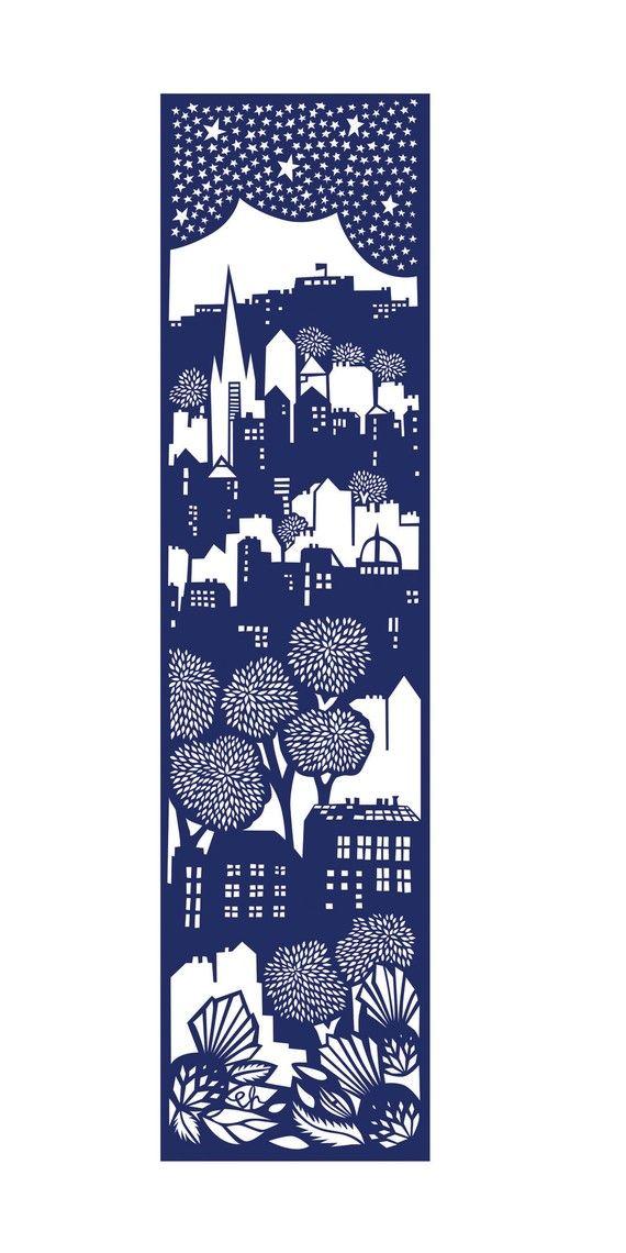 Edinburgh screen print, Emily Hogarth I like the vertical build up of space here.