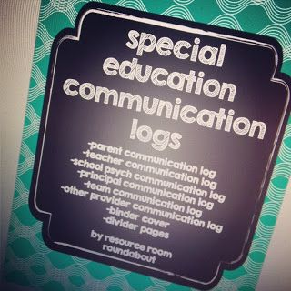Resource Room Roundabout: Special Education Communication Logs