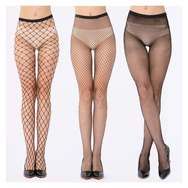 2017 New Fashion Women Ladies Sexy Fishnet Stockings Female Fish Net... ❤ liked on Polyvore featuring intimates, hosiery, tights, fish net tights, sexy stockings, mesh stockings, fishnet stockings and fishnet tights