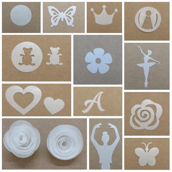 Flores 3D e apliques comestiveis em PAPEL de ARROZ, para decoração de bolos e doces.