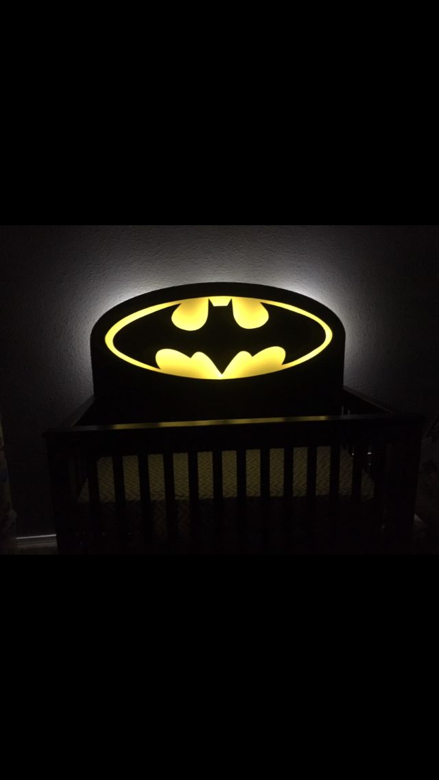 Light Up Batman Baby Crib my husband designed and made for our daughter