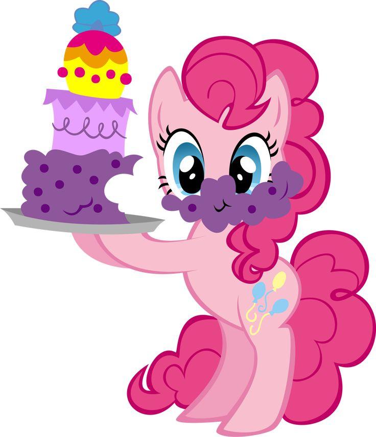 Pinkie pie  | Pinkie Pie with Cake by ~Ernestboy on deviantART