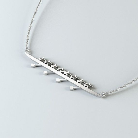 Rowing Eight Necklace by StrokesideDesigns on Etsy