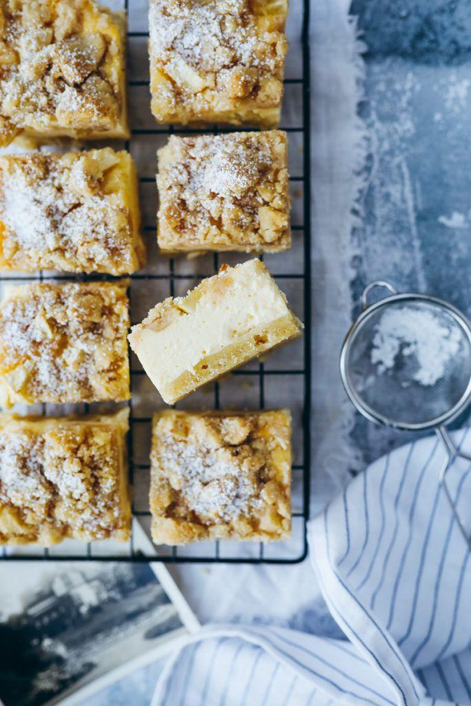Rezept Fur Apfel Streuselkuchen Vom Blech Als Kase Streuselkuchen