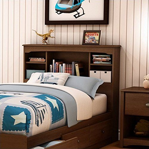 cheap south shore nathan kids twin bookcase headboard in sumptuous cherry finish https