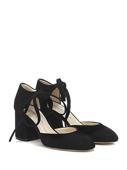 ROBERTO FESTA MILANO - Scarpa con tacco - Donna - Scarpa con tacco in camoscio con allacciatura alla caviglia e suola in cuoio. Tacco 60. - NERO - € 175.00
