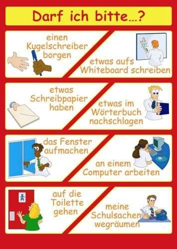 Darf ich bitte? Deutsch. If you're looking for  a German tutor, visit http://www.tutorz.com/find/german