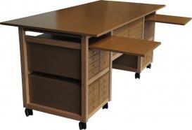 Table a dessin en bois | Chevalet peinture pour artiste | Meuble atelier d'art