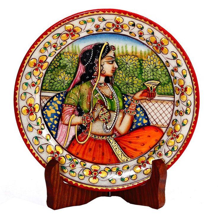 Handpainted Royal Princess Decorative Plate