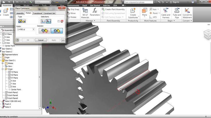 Tutorial Autodesk Inventor Gear Animation