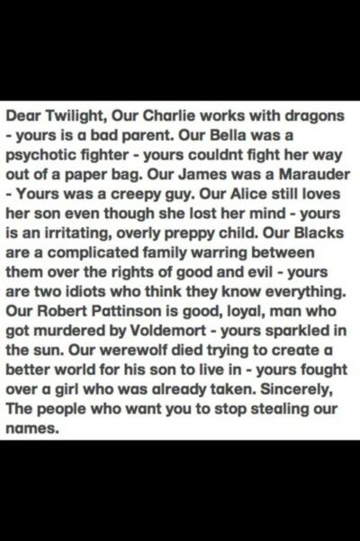 This is not opinion, this is fact, and this is why Harry Potter IS better than Twilight!