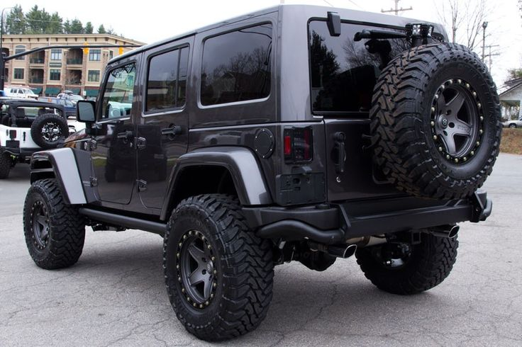 "2014 Jeep Rubicon Unlimited Granite!   AEV 3.5-inch Dual Sport SC Lift Kit 17"" ATX Wheels With 35-inch Open Country Tires"