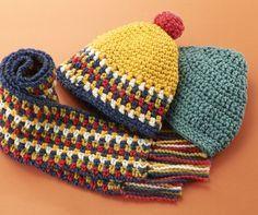 カラフルでポップな帽子♡こどもにかぶせたいかぎ針編みで編むカラフルニット帽の編み方♡
