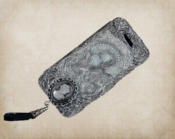 Leather iPhone 5 case  3d iPhone 5 flip by ShabbyChicToVintage, $50.00