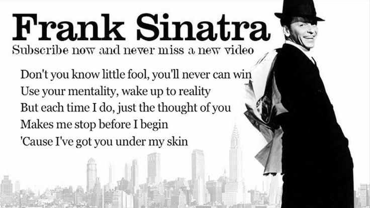 Frank Sinatra - I've Got You Under My Skin - Lyrics