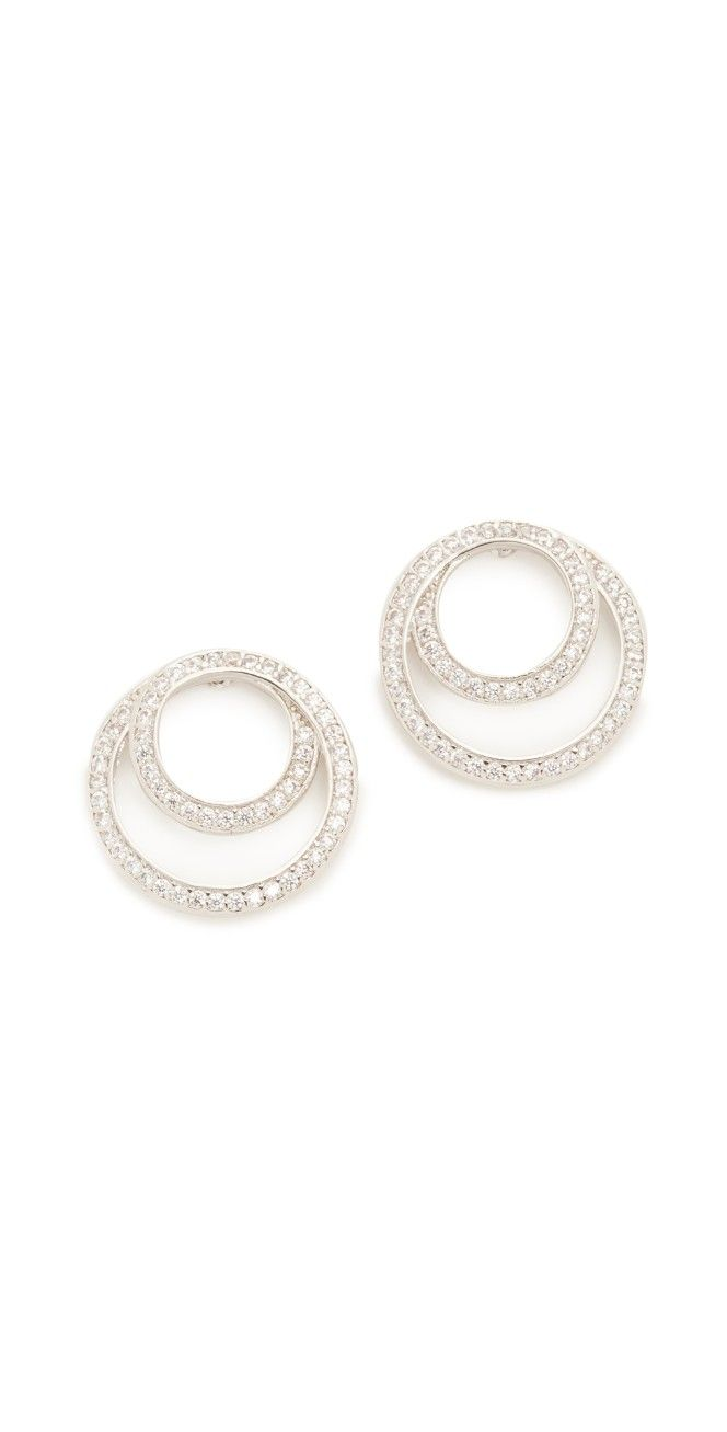 Kenneth Jay Lane Coiled Infinity Pave Earrings | SHOPBOP